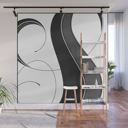 Letter S - Script Lettering Cropped Design Wall Mural