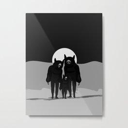 NEVER ALONE Metal Print