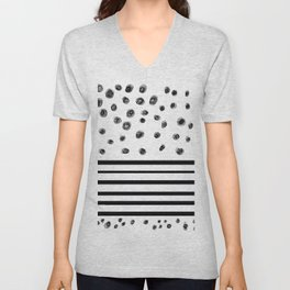 pattern and lines Unisex V-Neck