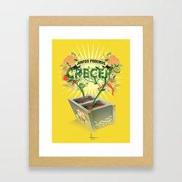JUNTOS PODEMOS CRECER Framed Art Print