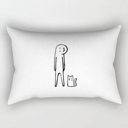 Happy one, Cat person Rectangular Pillow