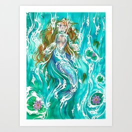 Relaxing Art Print