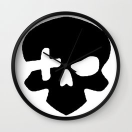 Skull plus Wall Clock