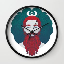 Lir - God of the sea Wall Clock