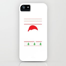 Slothy Christmas Merry Santa Hat Snowflakes Gift iPhone Case