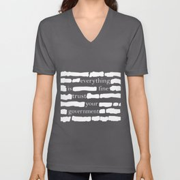 Trust Your Government Unisex V-Neck