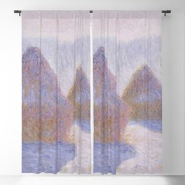 Haystacks, Effect of Snow and Sun by Claude Monet Blackout Curtain