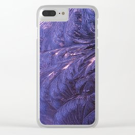 Ice Fractals 2 Clear iPhone Case