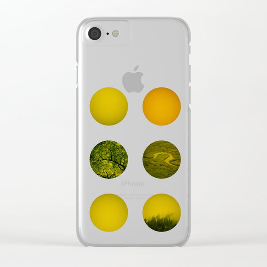 Earth Dot Pattern Clear iPhone Case