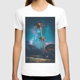 Palm Tree Galaxy (Color) T-shirt