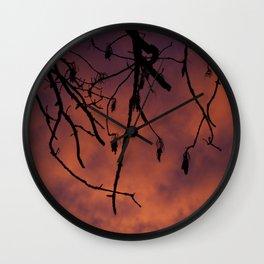 Sunrise Silhouette Wall Clock