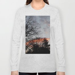 red clouds in the sky Long Sleeve T-shirt