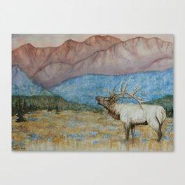 RMNP Elk Watercolor Canvas Print