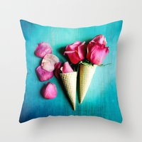 yetiland Throw Pillows featuring Double Date by Olivia Joy StClaire