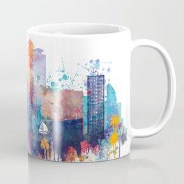 Miami watercolor skyline design Coffee Mug
