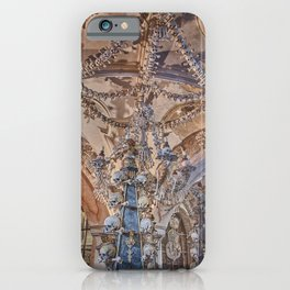 Sedlec Ossuary Interior Photo Art, Skull Bone Church iPhone Case