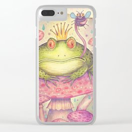 The Frog Prince Clear iPhone Case