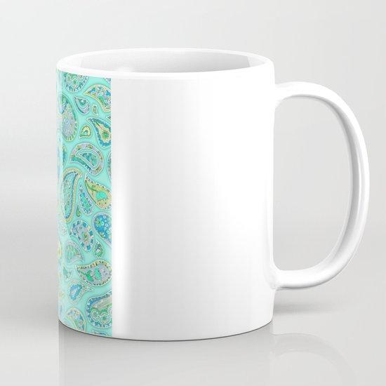 Lemon, Mint and Lime Paisley Mug
