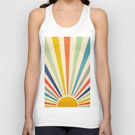 Sun Retro Art III Unisex Tank Top