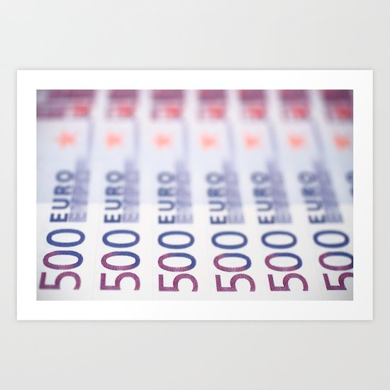 500 Euros Art Print