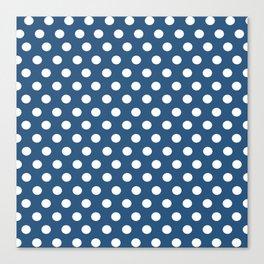Blue Dot Pattern Canvas Print