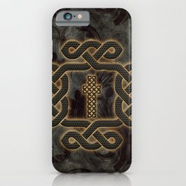 Decorative celtic knot, vintage design iPhone Case