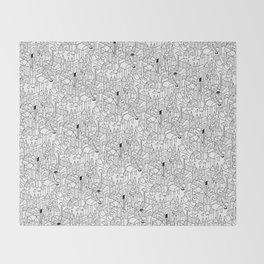 Little Escher's Building Blocks Throw Blanket