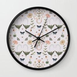 Serpent, Bee & Butterfly Garden Wall Clock