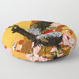 Year of the Fire Rooster Floor Pillow