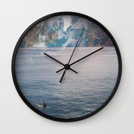 LONE SURFER Wall Clock