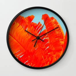 Flame On Island Paradise Wall Clock