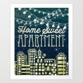 Home Sweet Apartment Art Print