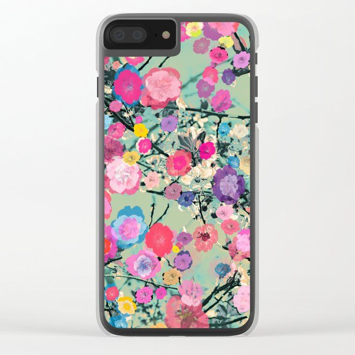 Floral abstract(60) Clear iPhone Case