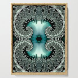 Lace Spirals Emerald Serving Tray