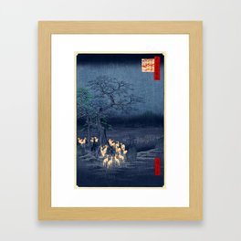 Foxfires at the Changing Tree Framed Art Print