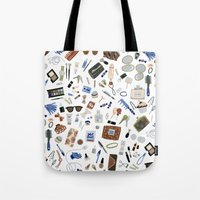 wallet Tote Bags featuring Girly Objects by Yuliya