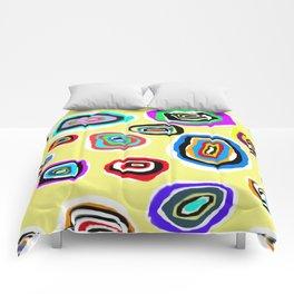 Ovals on Light Yellow Comforters