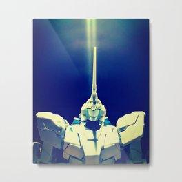 Gundam Rx-0 Unicorn Mode - Final Battle Metal Print