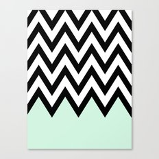 Mint Piece Chevron Canvas Print