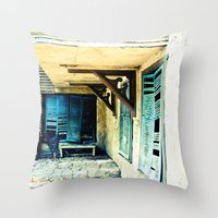 rustic Throw Pillows featuring Rustic by Kim Ramage