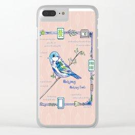 Lovely Sparrow - Mahjong Clear iPhone Case