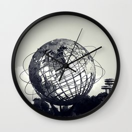 Unisphere at Flushing Meadows Park - New York City, Queens Wall Clock