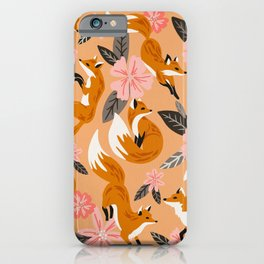 Foxes & Blooms – Melon Palette iPhone Case