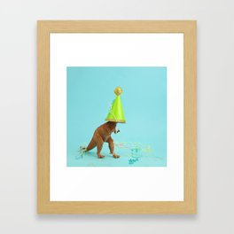 Dinosaurs like to party Framed Art Print