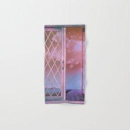 Lavender Fields in Window Shabby Chic original art Hand & Bath Towel