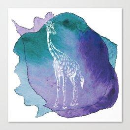 Color Spot Safari Giraffe Canvas Print