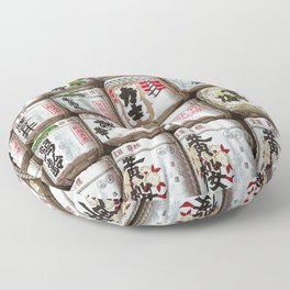 Sake Barrels Floor Pillow