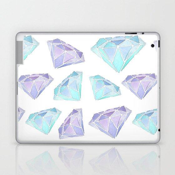 Watercolour Diamond Pattern Laptop & iPad Skin