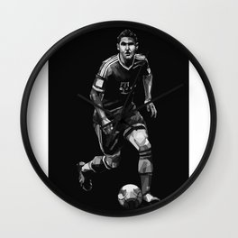 Bastian Schweinsteiger on Black and White Color Wall Clock