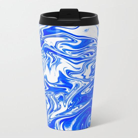 Marbled XX Metal Travel Mug